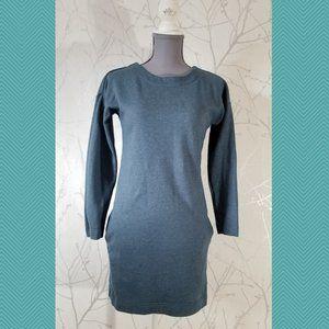s. Oliver Emerald Teal Long Sleeve Shirt Dress
